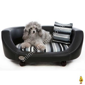 C&W Oxford II dog bed black small