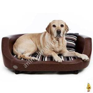 C&W Oxford II dog bed brown large