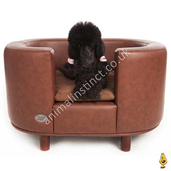 Cu0026W Hampton Dog Bed Brown Medium