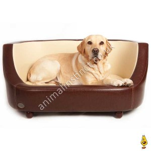 C&W Oxford dog bed brown medium