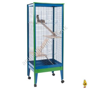 tall chinchilla cage with degus
